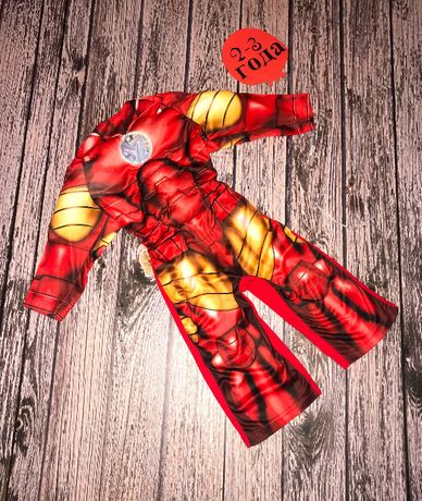 Новогодний костюм Железный человек для мальчика 2-3 года, 92-98 см