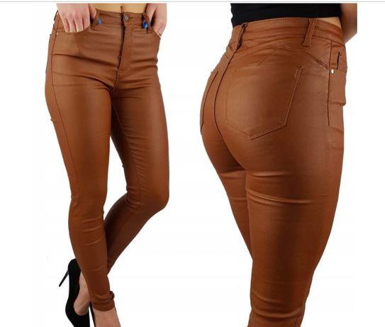 Spodnie woskowane brązowe XL