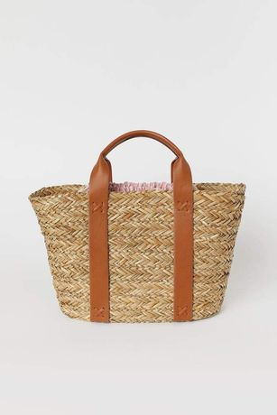 Słomiana torba H&M