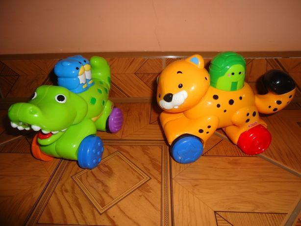 Zabawki Fisher Price do raczkowania, cena za obie