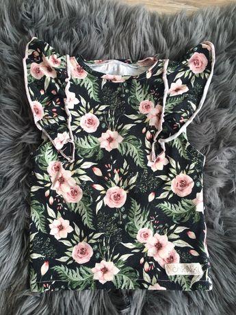 Bluzka kwiaty dziewczynka handmade