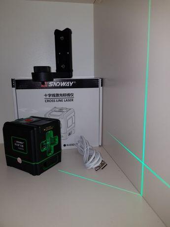 NEW2020⇒БИРЮЗОВЫЙ ЛУЧ⇒50м. Лазерный уровень SNDWAY H-D321g+Li-ion