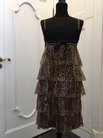 Roccobarocco sukienka jedwabna
