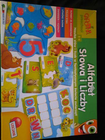 Układanka alfabet słowa i liczby