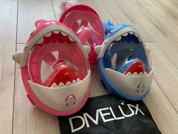 ОРИГИНАЛЬНАЯ! Детская маска для подводного плавания снорклинга Divelux