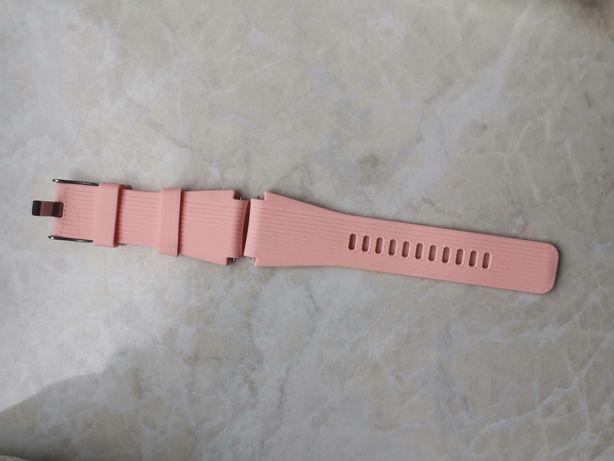 Pasek silikonowy 22mm smartwatch kolor różowy pastelowy