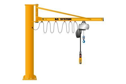 Żuraw słupowy obrotowy 500kg z UDT - DS System