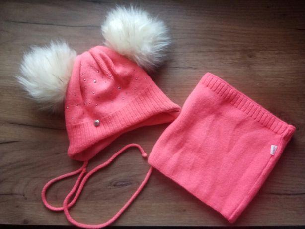Набір шапочка і хомутик (на окружність голови 44 см)