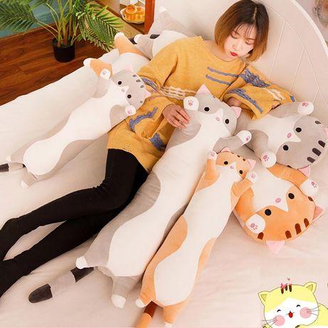 Плюшевая мягкая игрушка - подушка кот для детей 50см (EL‐2117)
