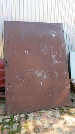 Drzwi stalowe ocynk zewnętrzne 1,5m x2,5m