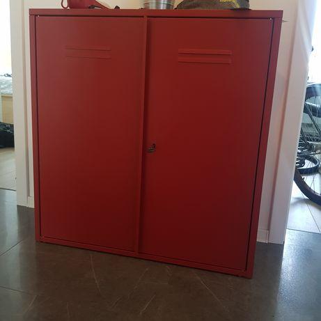 Metalowa czerowna szafka IKEA nowa