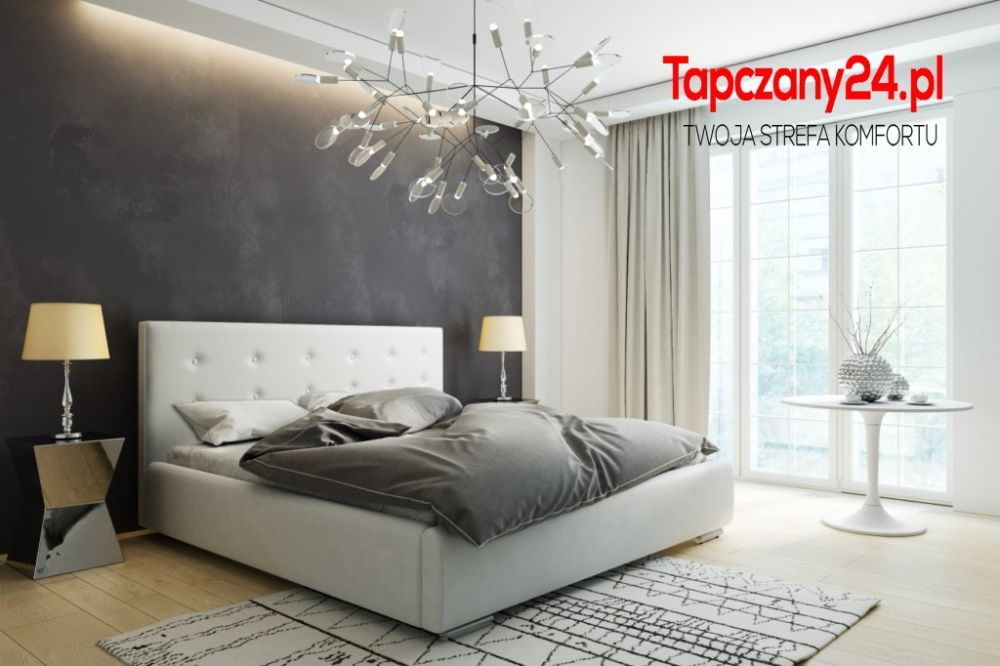 Łóżko tapicerowane 160x200 LILI stelaż pojemnik 90/120/140/160/180/200