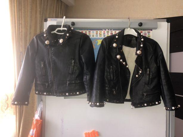 Курточки косухи для двойни