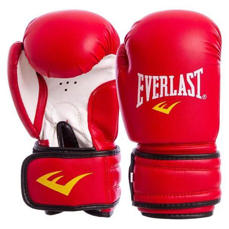Перчатки боксерские на липучке EVERLAST красные