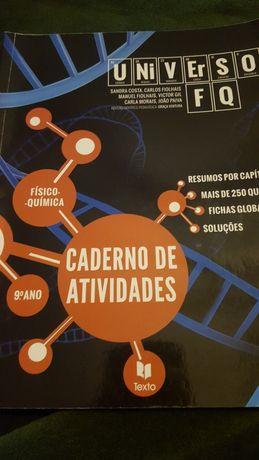 Caderno atividades físico quimica 9 ano
