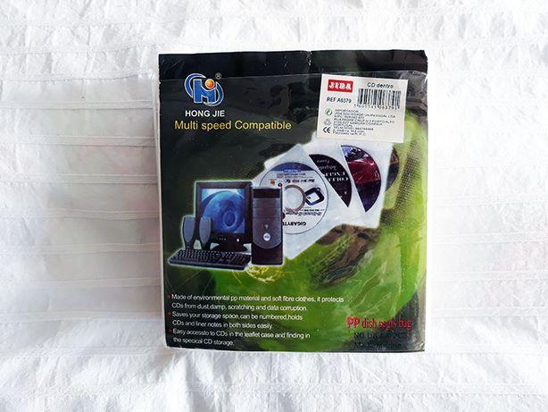 (Envio grátis) Cd Dvd Bolsas Plasticas Individuais Arquivo Computador
