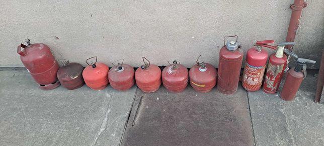 Stara butla  gazowa na Propan Butan zestaw butle