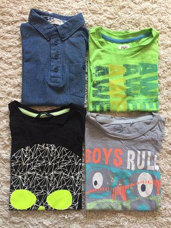 Zestaw koszulek chłopiec 110