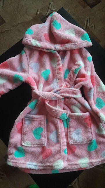 Продам флисовый халат, 92 см