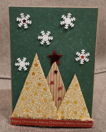 Kartka świąteczna handmade ręcznie robiona
