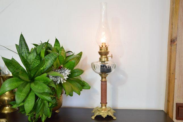 śliczna LAMPA NAFTOWA kolumnowa