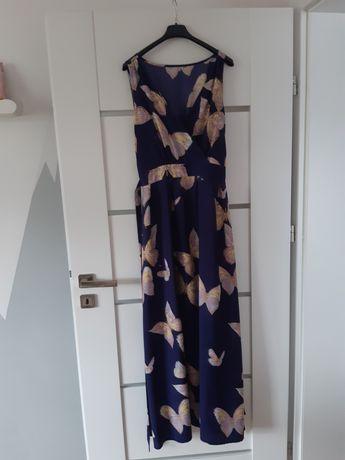 Długa Sukienka Boho Motyle