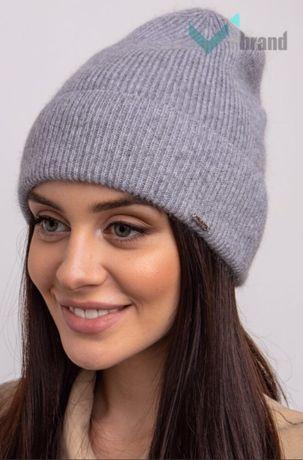 Ангоровая шапка женская Odyssey, новая серая модная стильная бини