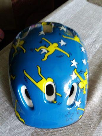 Kask dziecięcy niebiesko żółty rozm. M