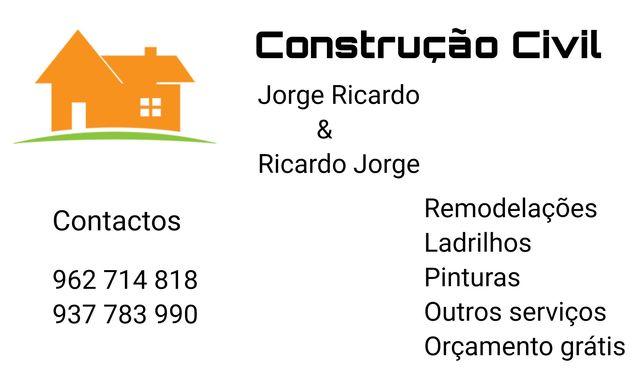 Construção civil,serviços de pintura e ladrilhos