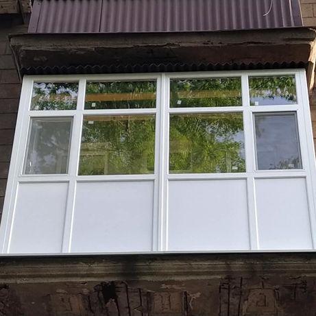 Балконы металлопластиковые