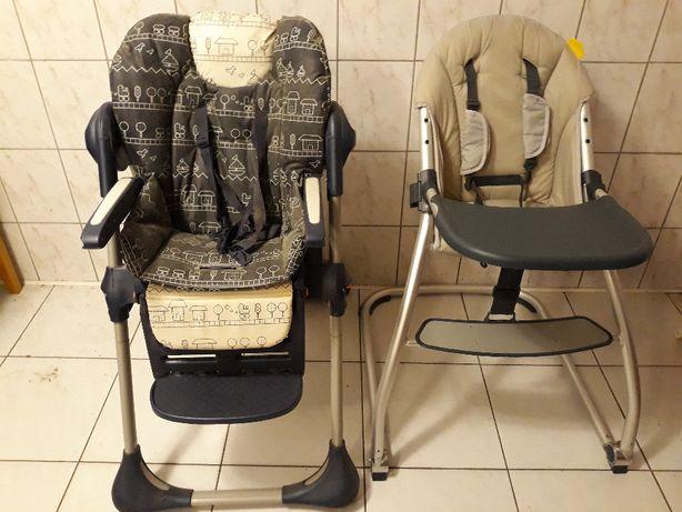 Krzesełko fotelik do karmienia Chicco składane cena za 2 szt