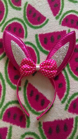 Opaska uszy królika na baterie dla dziewczynki