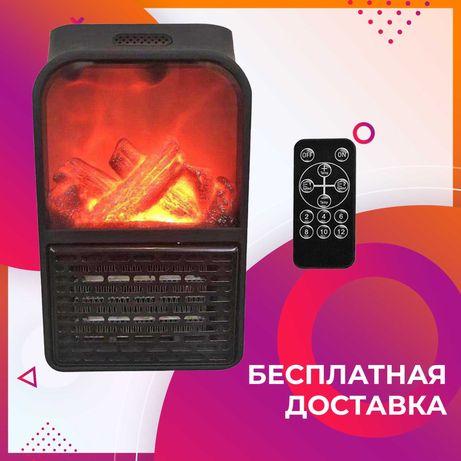 Обогреватель для комнаты с пультом Flame Heater 500 Вт тепловентилятор