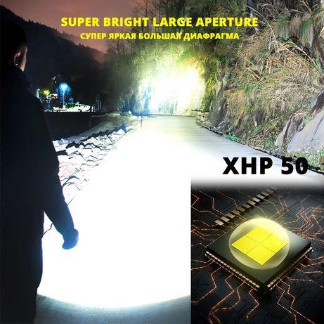 Фонарь светодиодный Shustar 26650 18650 micro usb xhp50