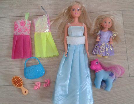 Lalka Barbie akcesoria zestaw ubrania konik Pony
