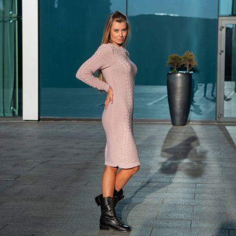 Вязаное платье / фабрика / качество! Есть размеры S, M, L, XL, 2XL,3XL