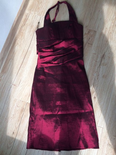 Sukienka bordowa34