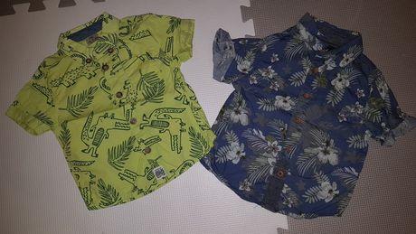 Koszula 2pak 2 szt koszulka krótki rękaw Rebel F&F rozmiar 74/ 80