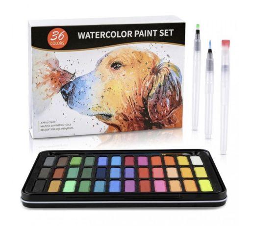 Watercolor paint set. Акварельные краски