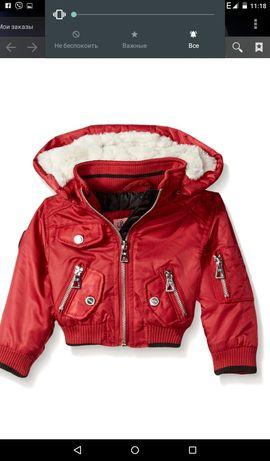Новая куртка весна - осень на 1-2 года. Утепленая, капюшон.