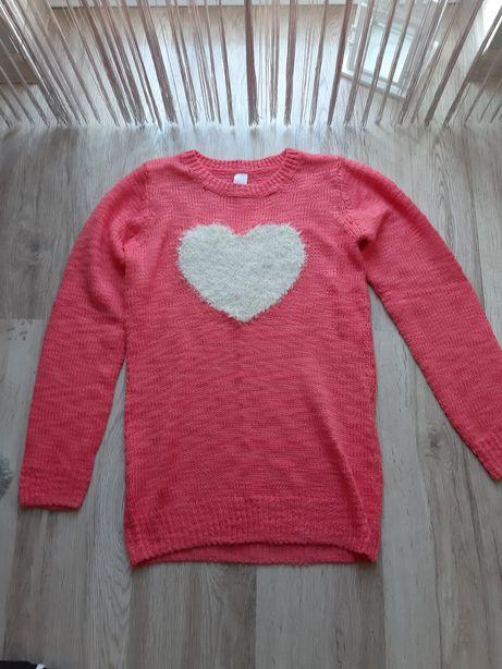 Ciepły sweter tunika dziecięca C&A