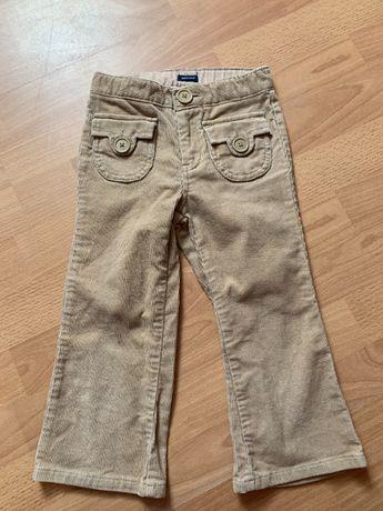 Gap бежевые вельветовые джинсы штаны брюки 3-4 года