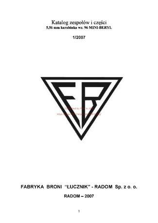 Katalog zespołów i części 5,56 mm karabinka