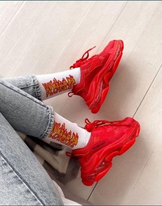 Продам кроссовки Balenciaga красные Алексеевка - изображение 1