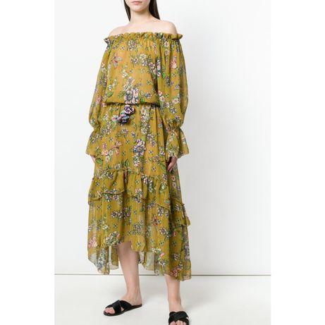 Nowa sukienka boho w kwiaty, maxi
