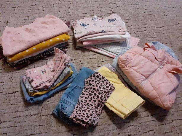 Zestaw ubrań dla dziewczynki h&m pepco 92 98