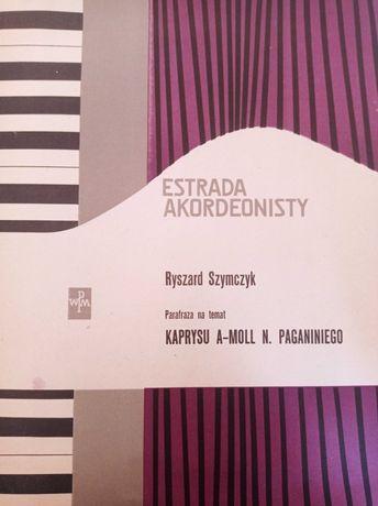 Rzadkie nuty akordeon Estrada akordeonisty 58 r. Szymczyk Paganini