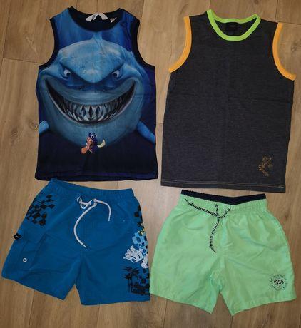 Zestaw dla chłopca na lato, spodenki, koszulki 122-128