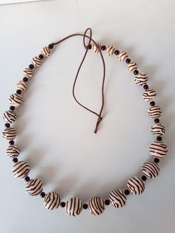 Naszyjnik korale ceramiczne Orsay H&M Reserved