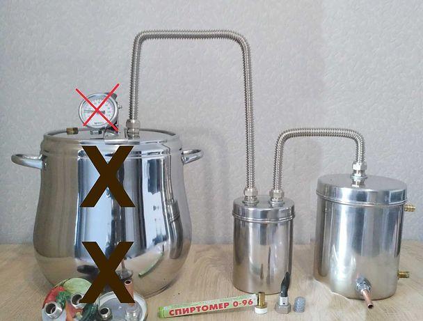 Дистиллятор проточный сантехнический медный змеевик, фильтр воды